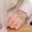 Колечко в виде сердечка инкрустированное камешками #1459143