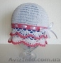 летние шапочки ручной вязки