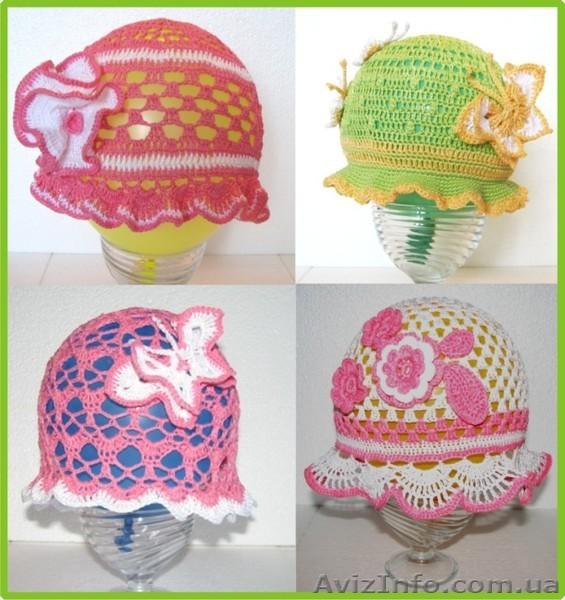Вязание летних шапочек крючком для малышей