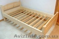 Кровать с ламелями деревянная